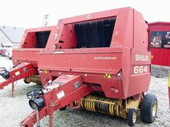 Baler-Round For Sale 1999 New Holland 664