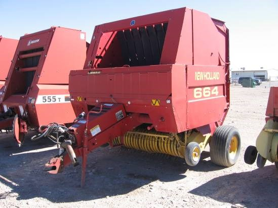 New Holland 664 Baler-Round For Sale