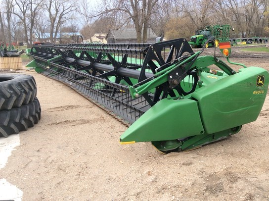2012 John Deere 640FD Header-Draper/Rigid For Sale