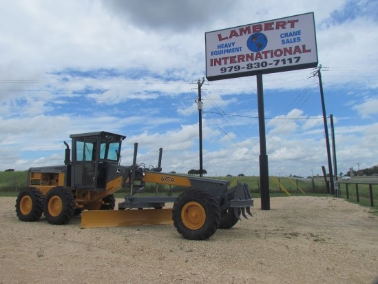 1985 John Deere 670A Motor Grader For Sale
