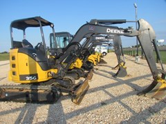 Excavator-Mini For Sale:  2013 John Deere 35G