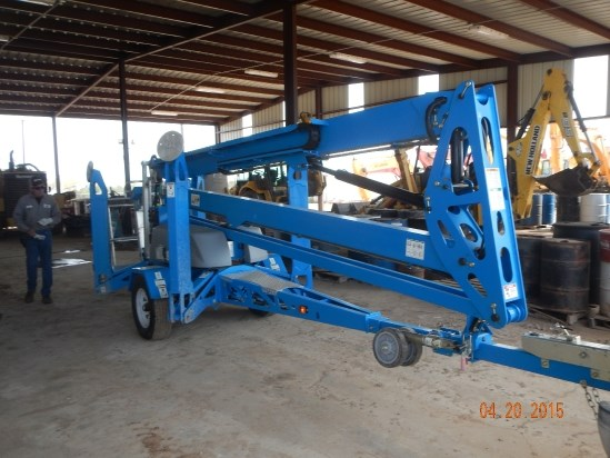 2014 Genie TZ50 Boom Lift-Trailer Mounted
