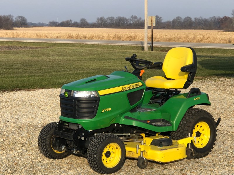 2015 John Deere X739 Riding Mower For Sale