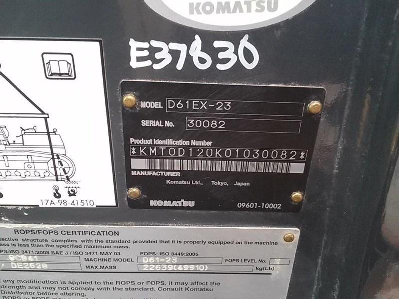 2013 Komatsu D61EX-23 Crawler Tractor For Sale