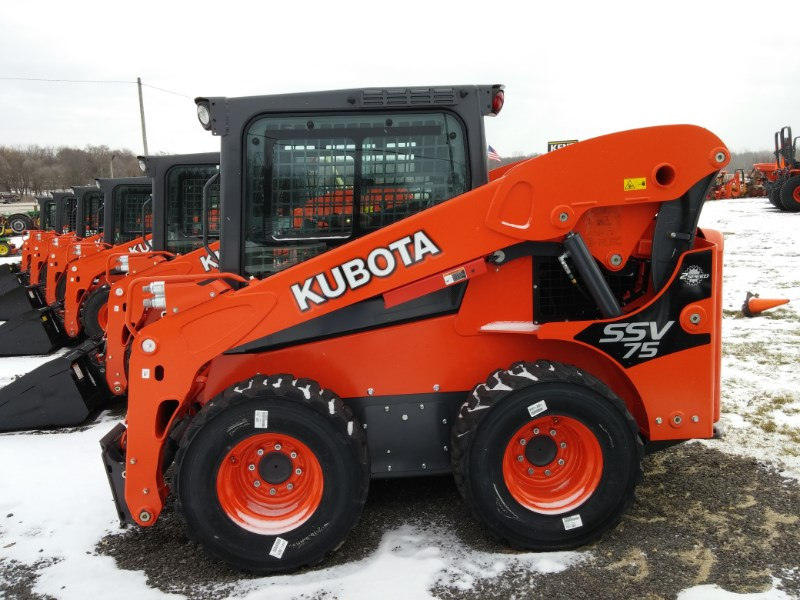 2016 Kubota SSV75HFC Skid Steer For Sale