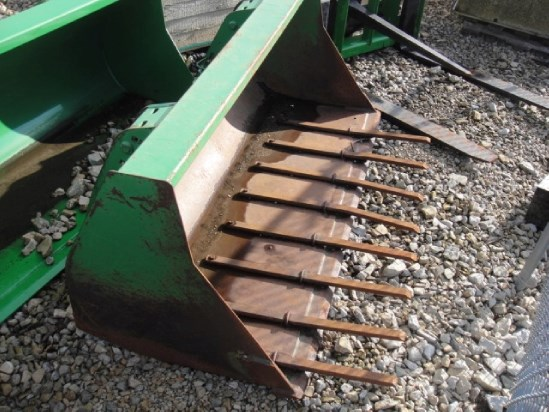 "John Deere 73"" Bucket w/ Tines Front End Loader Attachment For Sale"