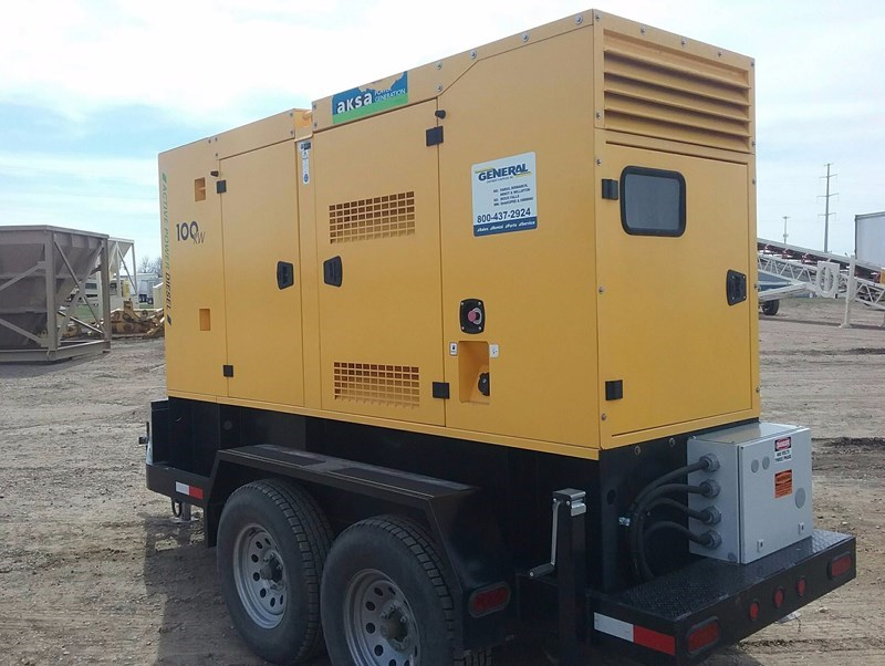 2015 AKSA POWER GENERATION 100 KW Generator & Power Unit For Sale