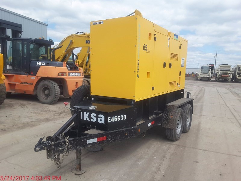 2015 AKSA POWER GENERATION 65 KW Generator & Power Unit For Sale