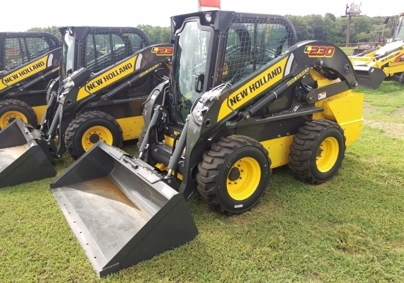 New Holland (NEW) L230 Cab Pilot Controls Skid Steer For Sale