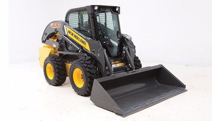 New Holland (NEW) L230 Cab Foot Controls Skid Steer For Sale