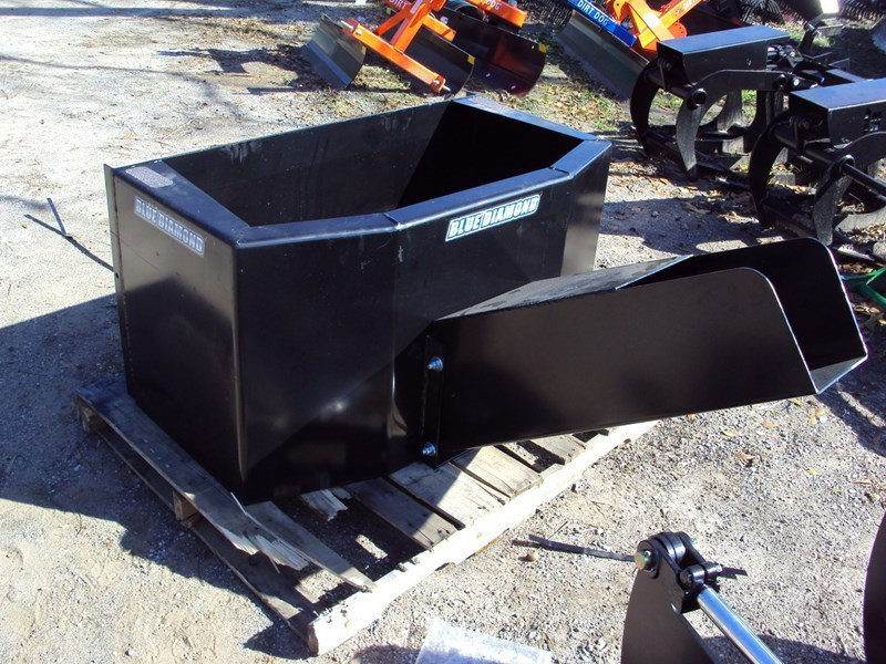 Blue Diamond Dispensing bucket Skid Steer Attachment For Sale