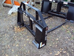 Bale Spear For Sale:  Dirt Dog Dual Bale Spear skid steer quick conect