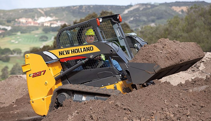 New Holland (NEW) C227 Open Cab Foot Controls Skid Steer For Sale