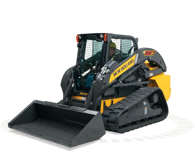 New Holland (NEW) C227 Cab Pilot Controls Skid Steer For Sale