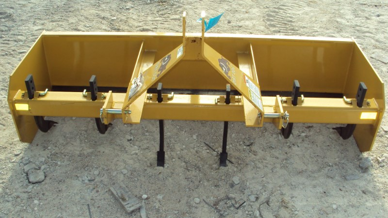 Dirt Dog New 3pt 6' HD box blade SBX72 with ripper teeth Blade Rear-3 Point Hitch For Sale