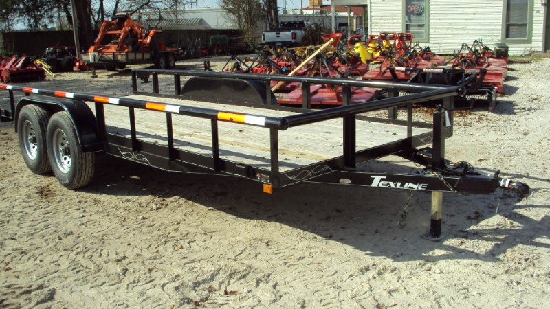 TexLine 18' Heavy Duty extra wide pipe top trailer Utility Trailer For Sale