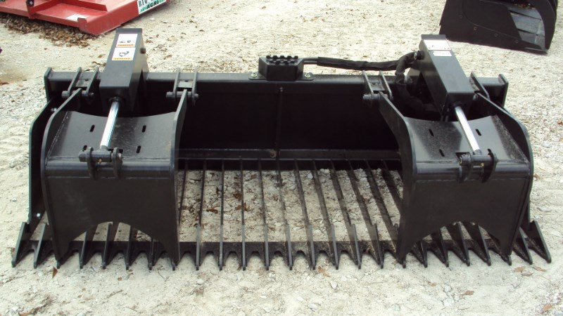 "Other HEAVY DUTY 84"" dual cylinder rock bucket brush gra Grapple For Sale"