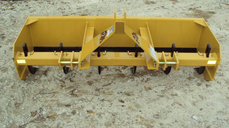 Dirt Dog 3pt 6' Super Duty box blade w/ rear gate MBX72 Box Blade Scraper For Sale