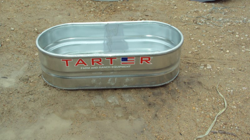 Tarter 2x1x4 galvanized metal stock tank Misc. Ag For Sale