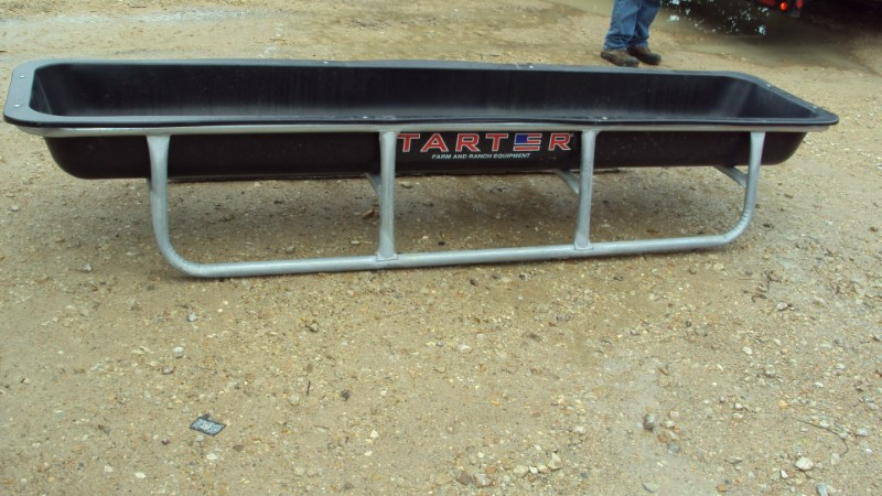 Tarter 10' poly galvanized bunk feeder Misc. Ag For Sale