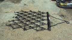 Drag Harrow For Sale:  Tarter 4X4 pull type chain harrow
