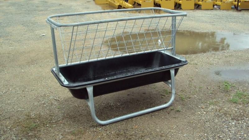Tarter 5' poly / galvanized goat bunk feeder w/ hay rack  Misc. Ag For Sale