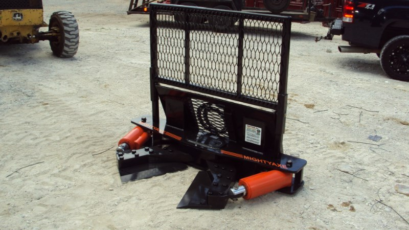 MightyAxe, Inc. Mighty Axe double cylinder tree shear BEST TREE SH Skid Steer Attachment For Sale