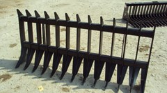 "Skid Steer Attachment For Sale:  Other 72"" Heavy duty root / brush / rock rake for skid s"