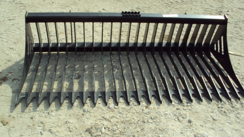 """Other 78"""" heavy duty quick attach rock bucket for skid s Skid Steer Attachment For Sale"""
