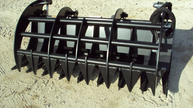"Other 72"" Brush / Root rake grapple for skid steer & tra Skid Steer Attachment For Sale"