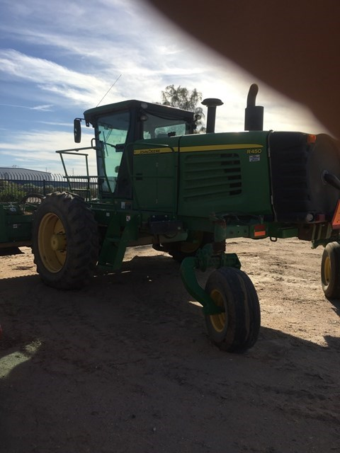 2010 John Deere R450 Windrower-Self Propelled For Sale