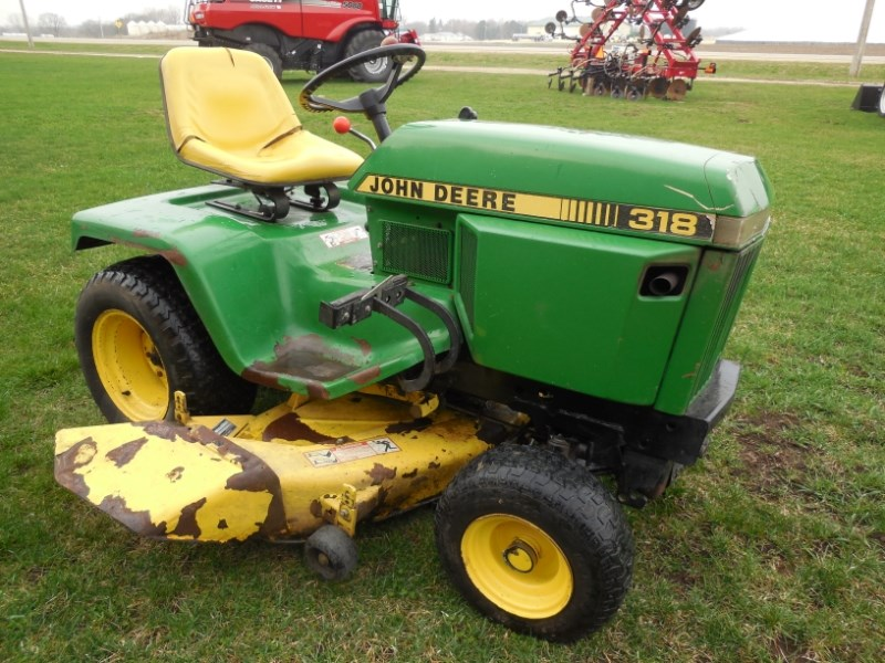 John Deere 318 Riding Mower For Sale
