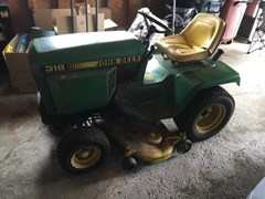 Riding Mower For Sale 1984 John Deere 318 , 18 HP
