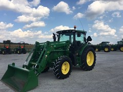 Tractor For Sale:  2015 John Deere 6125R , 125 HP