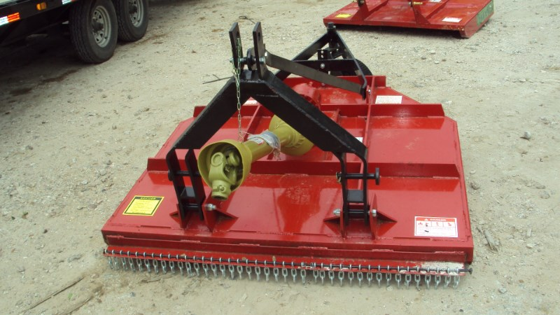 Atlas Extreme Duty 3pt 5' brush hog w/ clutch & stump ju Rotary Cutter For Sale