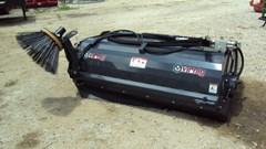 "Skid Steer Attachment For Sale:  Virnig New 72"" skid steer pick up broom with gutter brush"