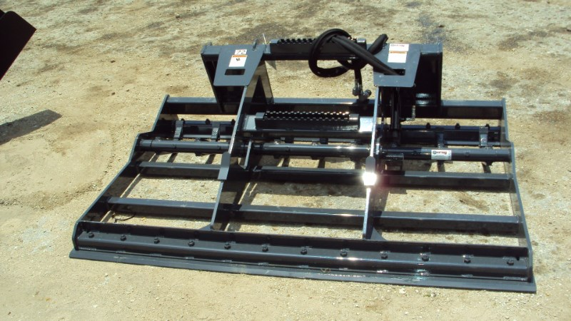Virnig Skid steer LAND LEVELER w/ hydraulic ripper teeth Skid Steer Attachment For Sale