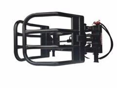 Bale Squeeze Attachment For Sale:  Premier Skid steer hydraulic bale grabber