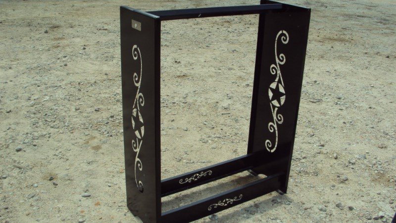 "Other 36"" metal decorative fire wood rack Misc. Sport/Utility For Sale"