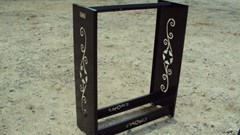 """Misc. Sport/Utility For Sale:  Other 36"""" metal decorative fire wood rack"""