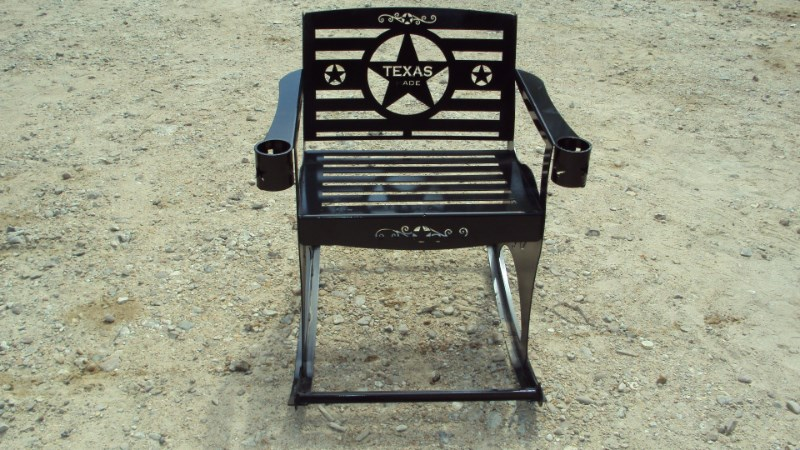 Other Heavy duty metal rocking chair w/ Texas theme Misc. Sport/Utility For Sale