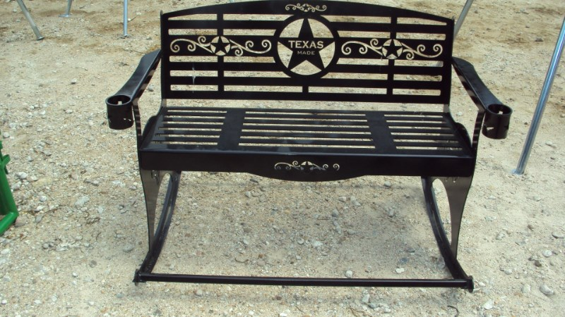 Other Heavy duty metal outdoor rocker bench w/ Texas the Misc. Sport/Utility For Sale
