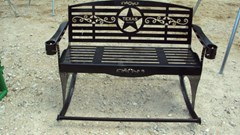 Misc. Sport/Utility For Sale:  Other Heavy duty metal outdoor rocker bench w/ Texas the