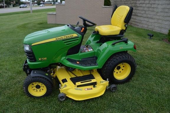 2012 John Deere X728 Riding Mower For Sale