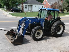 Tractor For Sale 2004 New Holland TN75D MFD CAB LDR , 62 HP