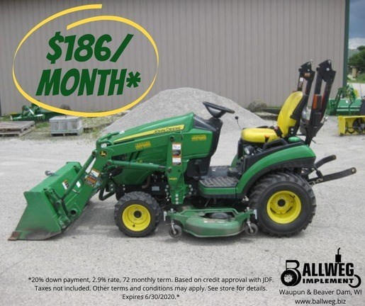 2015 John Deere 1025R Tractor - Compact Utility For Sale