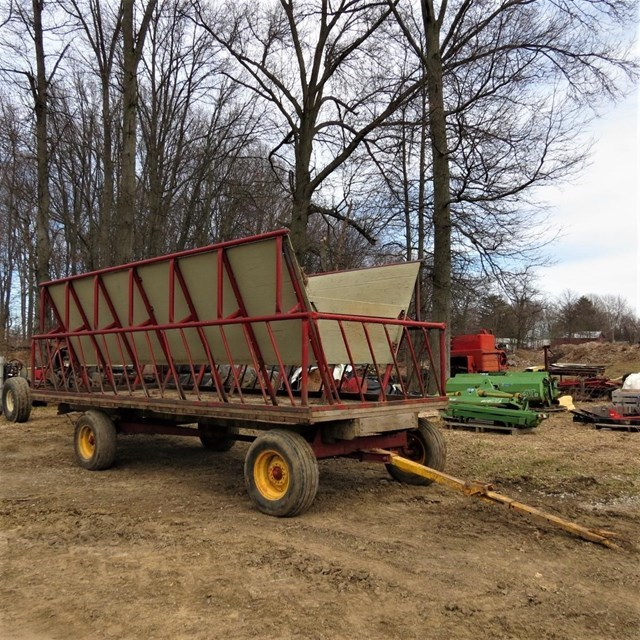 Misc 16' Forage Box-Wagon Mounted For Sale