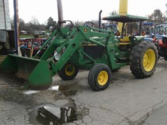 Tractor For Sale 1992 John Deere 2555 W/245 LDR , 65 HP