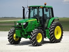 Tractor For Sale 2017 John Deere 6110M CAB-24AQ+ , 110 HP