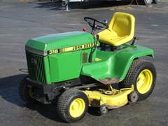 Riding Mower For Sale 1988 John Deere 316